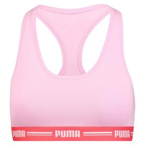 Thumbnail 3 van Iconische racerback-bh voor vrouwen, roze / rood, medium