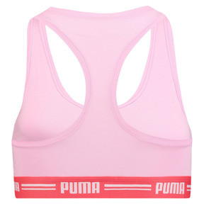 Thumbnail 4 of Iconic Racerback Women's Bra, pink / red, medium