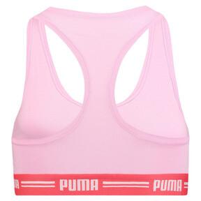 Thumbnail 4 van Iconische racerback-bh voor vrouwen, roze / rood, medium
