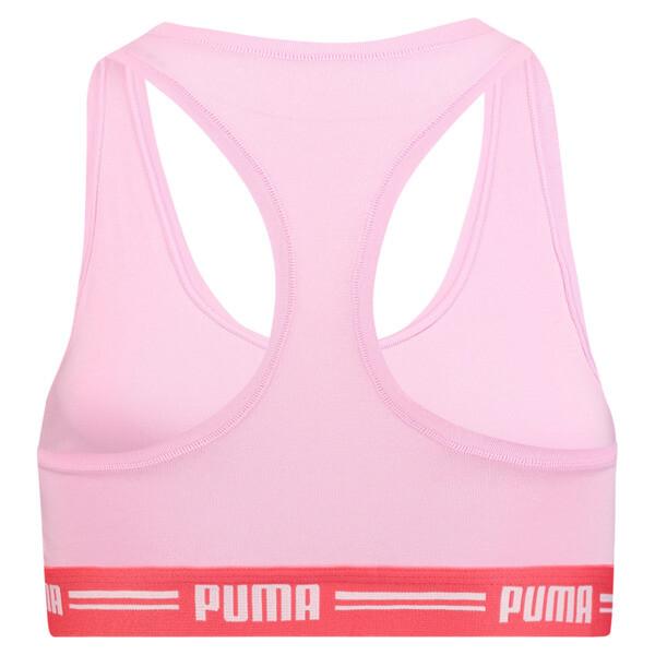 Iconische racerback-bh voor vrouwen, roze / rood, large