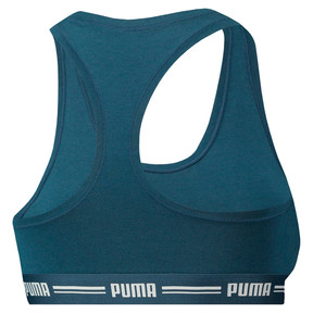Thumbnail 2 of Women's Iconic Racerback Bra, Dark denim, medium