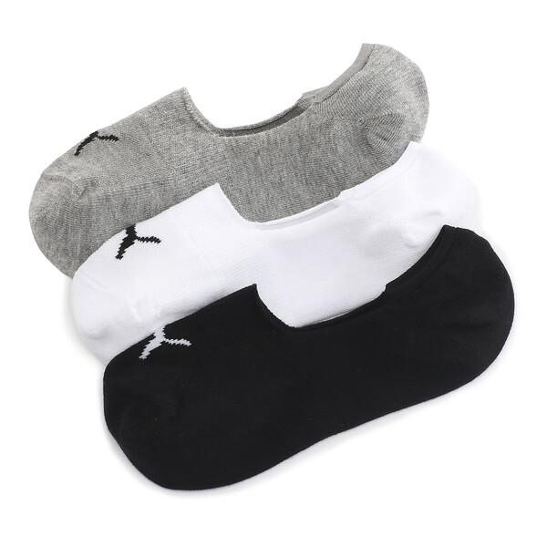 フーティー ソックス(3足組), white / black, large-JPN