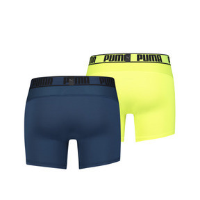 Thumbnail 2 of Active Men's Boxer Shorts 2 Pack, sea green / yellow, medium