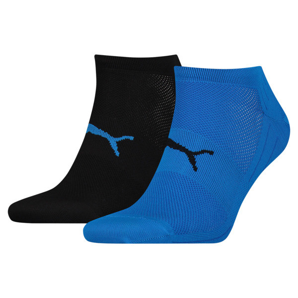 Performance Train Light Socks 2 Pack, blue / black, large