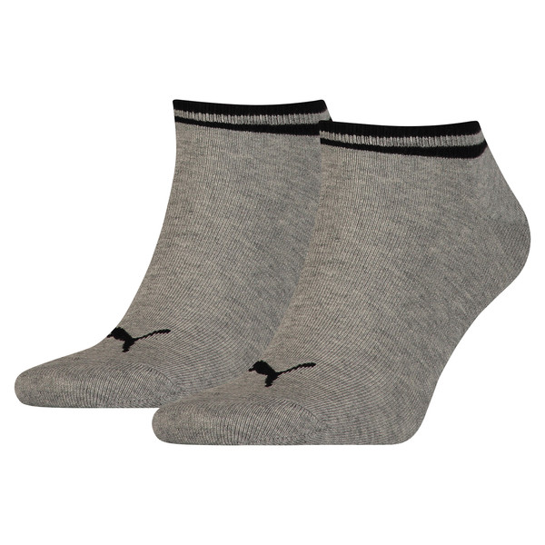 Heritage Trainer Socks 2 Pack, grey, large