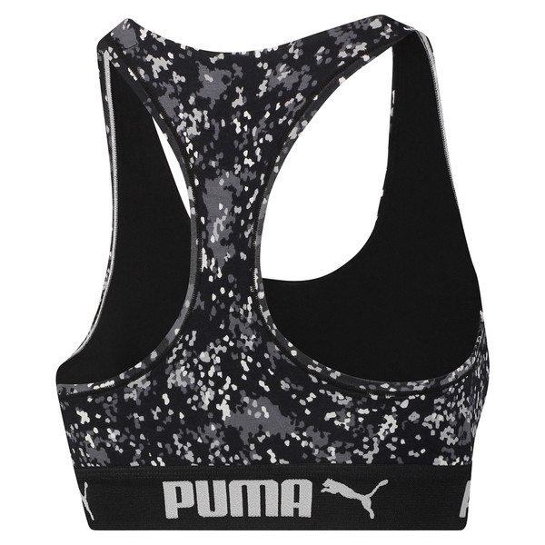 Speckle Camo Damen Racerback BH-Top, black / white, large
