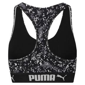 Thumbnail 4 of Speckle Camo Racerback Women's Bra Top, black / white, medium