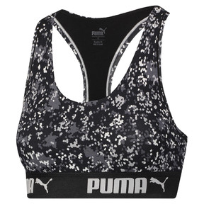 Thumbnail 1 of Speckle Camo Damen Racerback BH-Top, black / white, medium