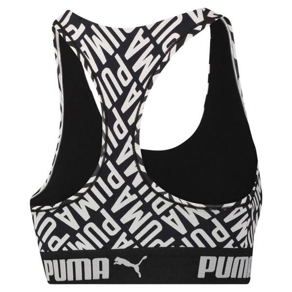 Women's Logo Collage Print Racerback Bra Top, black / white, large