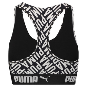 Thumbnail 4 of Women's Logo Collage Print Racerback Bra Top, black / white, medium