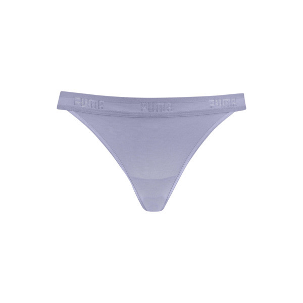 Sheer Mesh Women's String Panties, pastel lavender, large