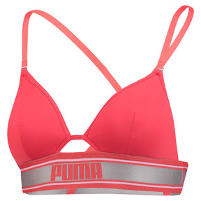 Thumbnail 1 of Long Line Triangle Padded Women's Bralette, red, medium