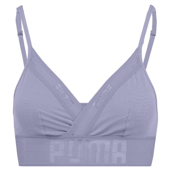 Sheer Mesh Women's Bralette, pastel lavender, large