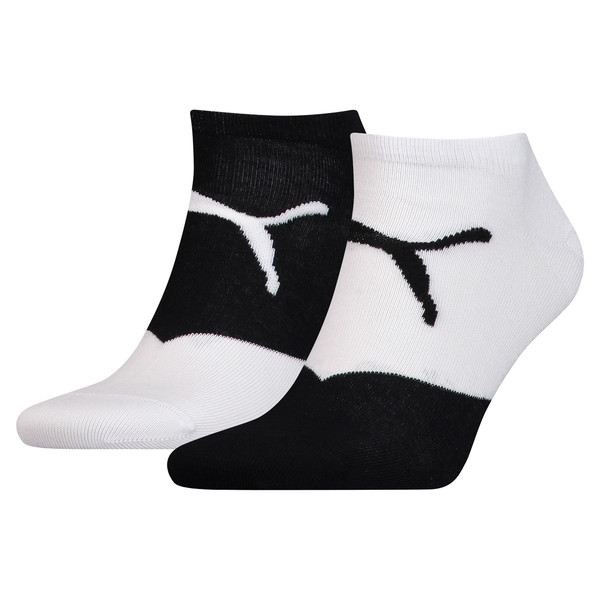 Men's Trainer Socks 2 Pack, white / black, large