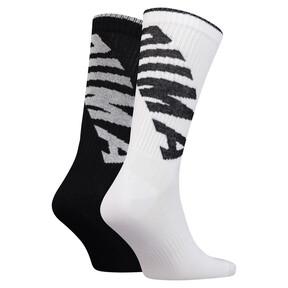 Thumbnail 2 of Lot de deux paires de chaussettes Crew pour homme, white / black, medium
