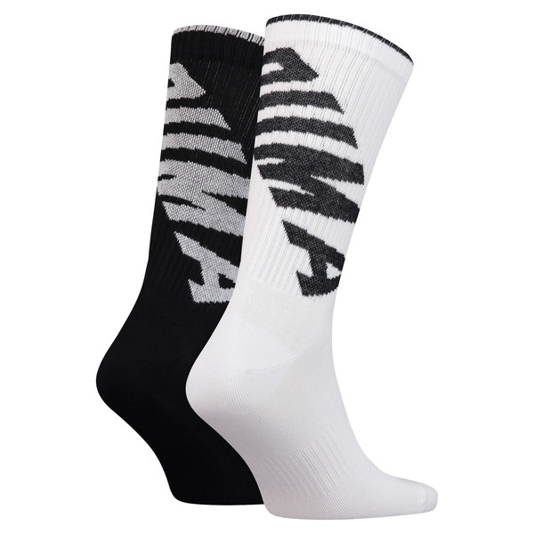 Lot de deux paires de chaussettes Crew pour homme, white / black, large