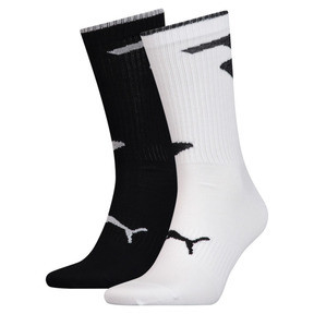 Thumbnail 1 of Men's Crew Socks 2 Pack, white / black, medium
