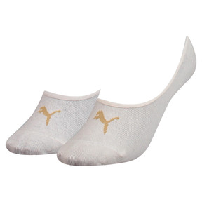 Thumbnail 1 of Women's Footie Socks 2 Pack, white melange / gold, medium