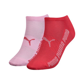 Thumbnail 1 of Lurex Women's Trainer Socks 2 Pack, pink / red, medium