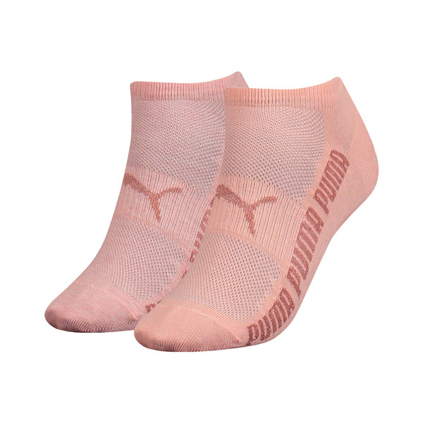 Lurex Women's Trainer Socks 2 Pack, peach, large