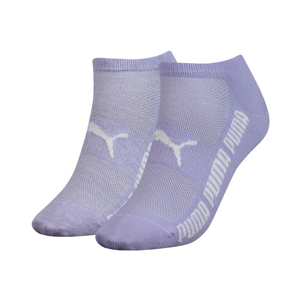 Lurex Women's Trainer Socks 2 Pack, pastel lavender, large
