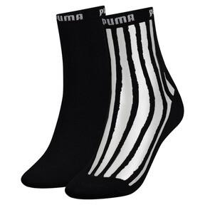 Thumbnail 1 of Lot de 2 paires de chaussettes Transparent Stripe pour femme, black / antracite, medium