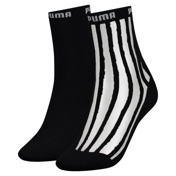 Transparent Stripe Women's Short Socks 2 Pack, black / antracite, large