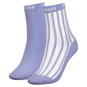 Thumbnail 1 of Transparent Stripe Women's Short Socks 2 Pack, pastel lavender, medium