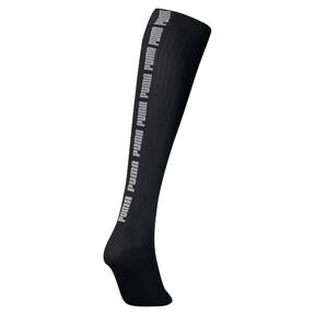 Thumbnail 2 van Kniehoge sokken met lurex voor vrouwen, zwart / zilverkleurig, medium