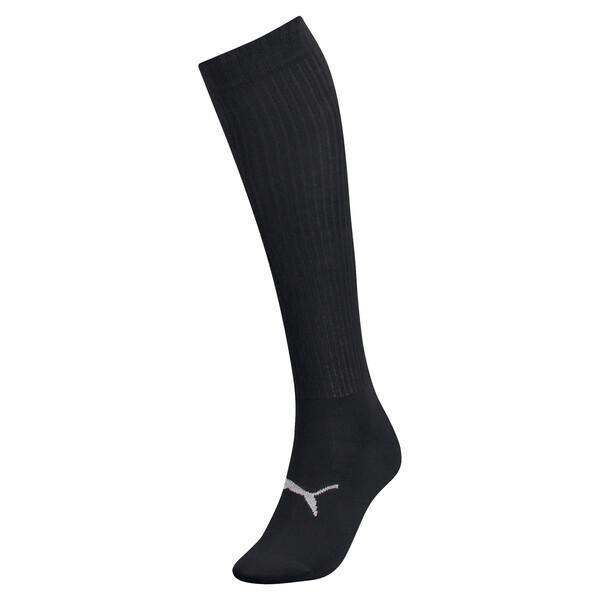 Kniehoge sokken met lurex voor vrouwen, zwart / zilverkleurig, large
