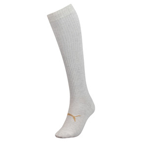 Thumbnail 1 of Lurex Women's Knee-High Socks, white melange / gold, medium