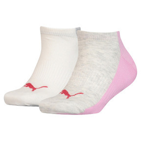 Colour Block Girls' Trainer Socks 2 Pack