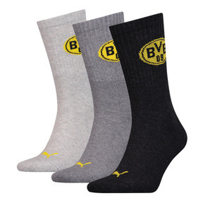 Thumbnail 1 of PUMA x BVB Sportsocken 3er Pack, anthraci/l mel grey/m mel gr, medium