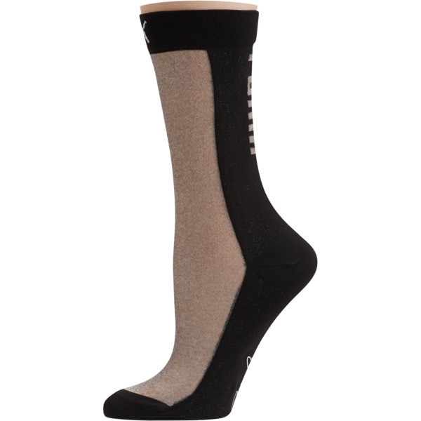 SG x PUMA Transparent Front Crew Socks [1 Pair], black, large
