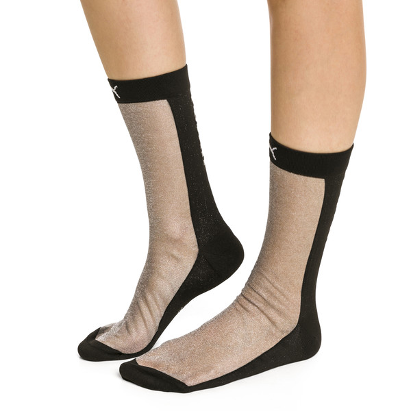 PUMA x SG Transparent Front Crew Socks (1 Pack), black, large