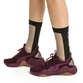 Thumbnail 4 of PUMA x SG Transparent Front Crew Socks (1 Pack), black, medium