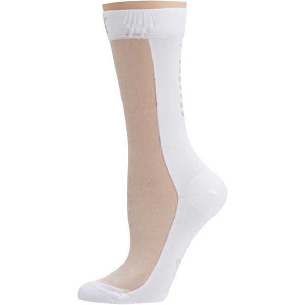 SG x PUMA Transparent Front Crew Socks [1 Pair], white, large