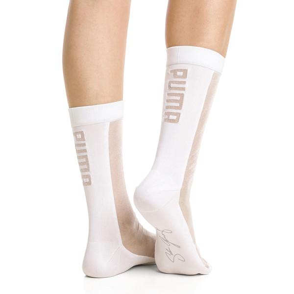 PUMA x SG Transparent Front Crew Socks (1 Pack), white, large