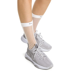 Thumbnail 4 of PUMA x SG Transparent Front Crew Socks (1 Pack), white, medium
