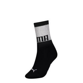 Thumbnail 1 of PUMA x SG Transparent Top Crew Socks (1 Pair), black, medium