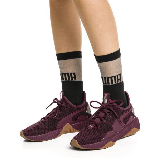 PUMA x SG Transparent Top Crew Socks (1 Pair), black, large