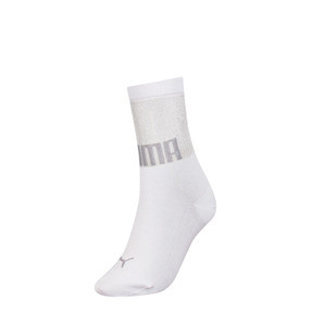 Thumbnail 1 of PUMA x SG Transparent Top Crew Socks (1 Pair), white, medium