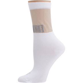 Thumbnail 1 of SG x PUMA Transparent Top Crew Socks [1 Pair], white, medium