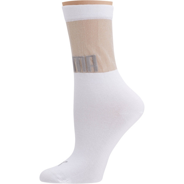 SG x PUMA Transparent Top Crew Socks [1 Pair], white, large