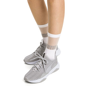Thumbnail 4 of PUMA x SG Transparent Top Crew Socks (1 Pair), white, medium