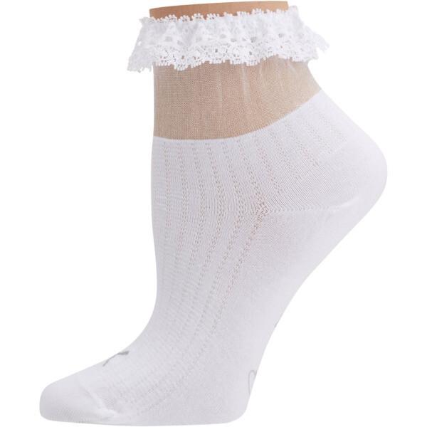 SG x PUMA Ruffle Short Crew Socks [1 Pair], white, large