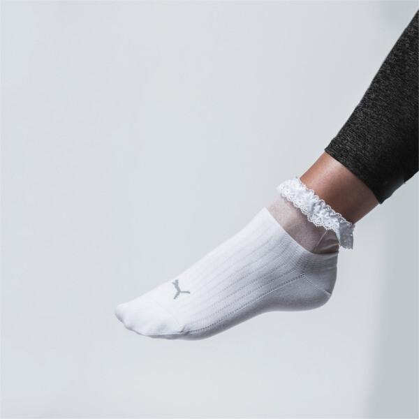 PUMA x SG korte sokken met ruche, wit, large