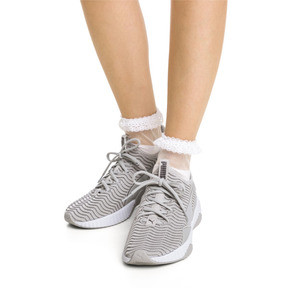 Thumbnail 4 of PUMA x SG Ruffle Short Crew Socks, white, medium