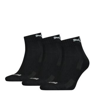 Image PUMA Unisex Cushioned Quarter Socks 3 pack