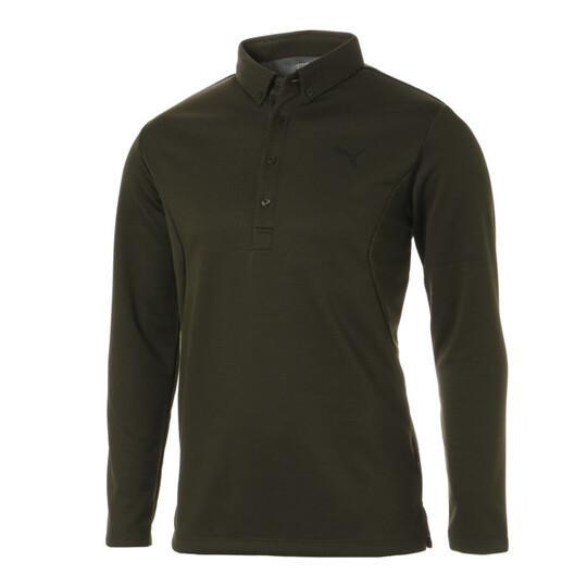 ゴルフ ダブルニット LS ポロシャツ